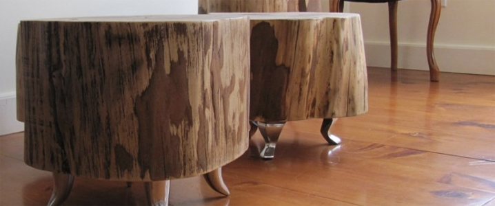 les tables troncs d arbre un concept venu du canada univers nature actualit environnement. Black Bedroom Furniture Sets. Home Design Ideas