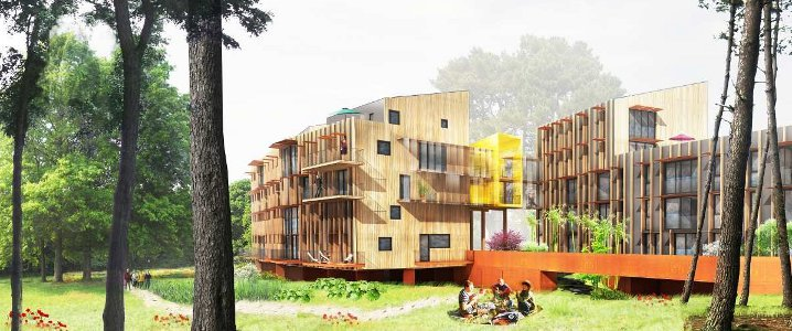 Grand Carcouët. Premier bâtiment de logements collectifs sociaux à énergie positive à Nantes