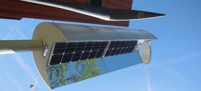 Lampadaire à concentration solaire à Toulouse