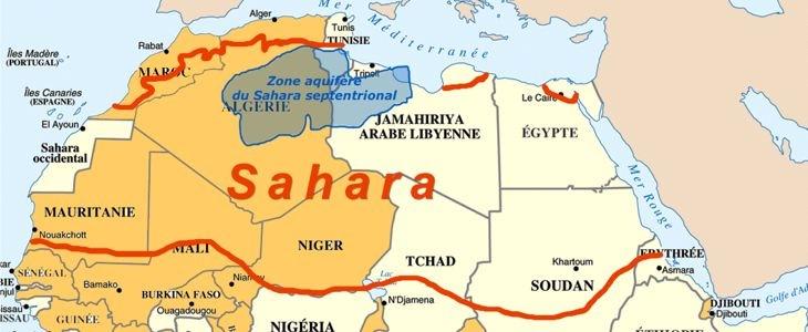 Nappe d'eau du Sahara septentrional