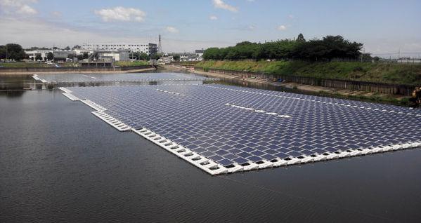 Hydrelio, solution brevetée de centrales solaires flottantes
