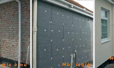 Isolation extérieure d'un mur