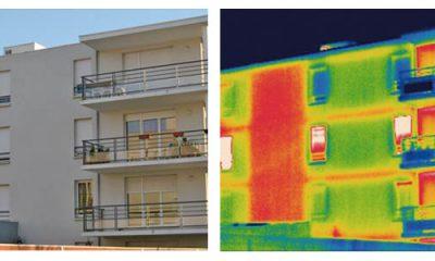 Diagnostic thermique d'une façade avec une caméra thermique