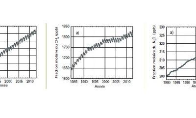 Concentration de CO2-CH4-N2O