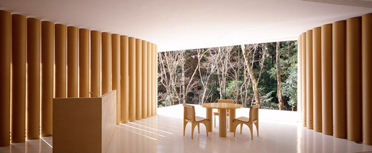 shigeru ban l architecte roi du carton univers nature actualit environnement habitat et. Black Bedroom Furniture Sets. Home Design Ideas