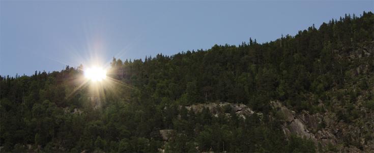 récupération de la lumiere du soleil