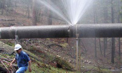 Fuite d'eau potable sur une canalisation