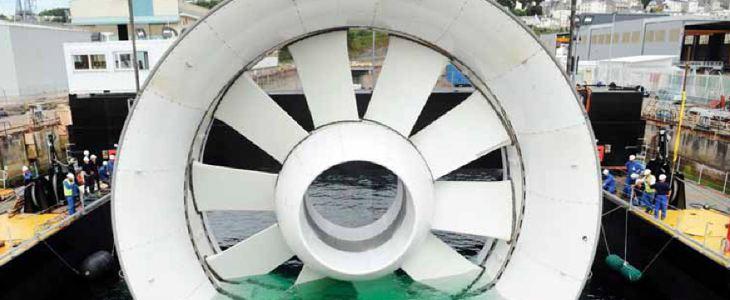 hydrolienne EDF à Paimpol