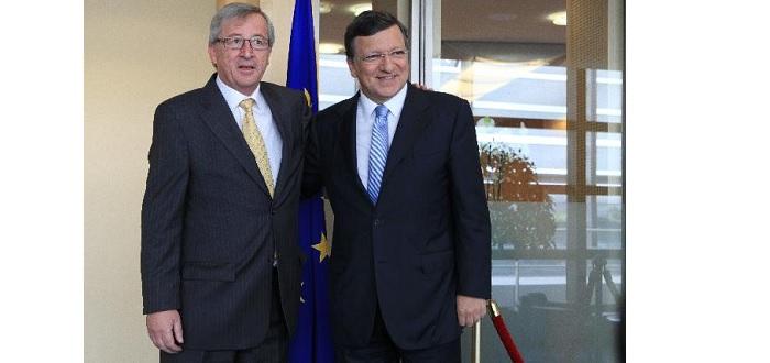 L'ancien et le nouveau président de la Commission européenne
