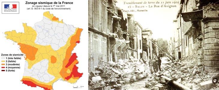 tremblement de terre et maisons