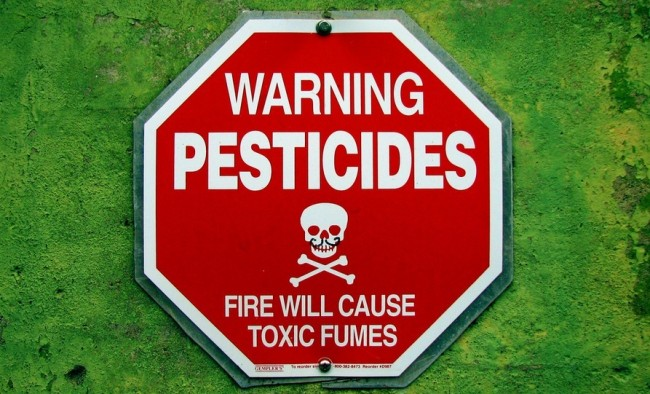 pesticides warning