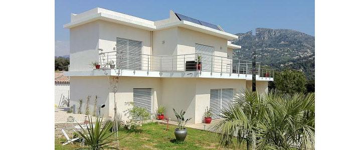 maison ecologique carros, region paca